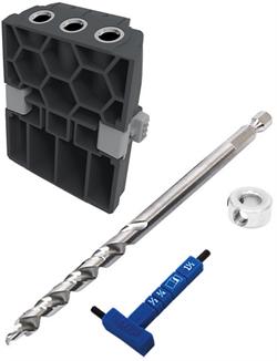 Кондуктор для сверления Micro-Pocket для Kreg Pocket-Hole Jig 520 в комплекте со сверлом стопорным кольцом и ключом 1